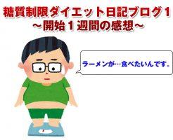 糖質制限ダイエット日記ブログ1~開始1週間の感想~