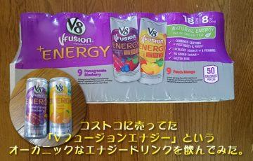 コストコに売ってた「Vフュージョンエナジー」というオーガニックなエナジードリンクを飲んでみた。