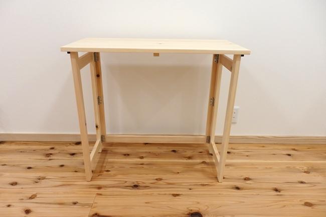 山善 天然木折りたたみテーブル