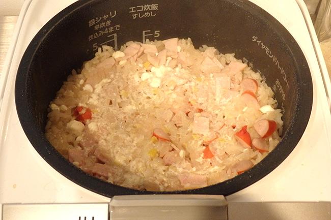 炊飯器で作るチャーハン